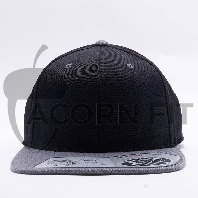 Blank Black Grey Two Tone Snapback Hats Caps