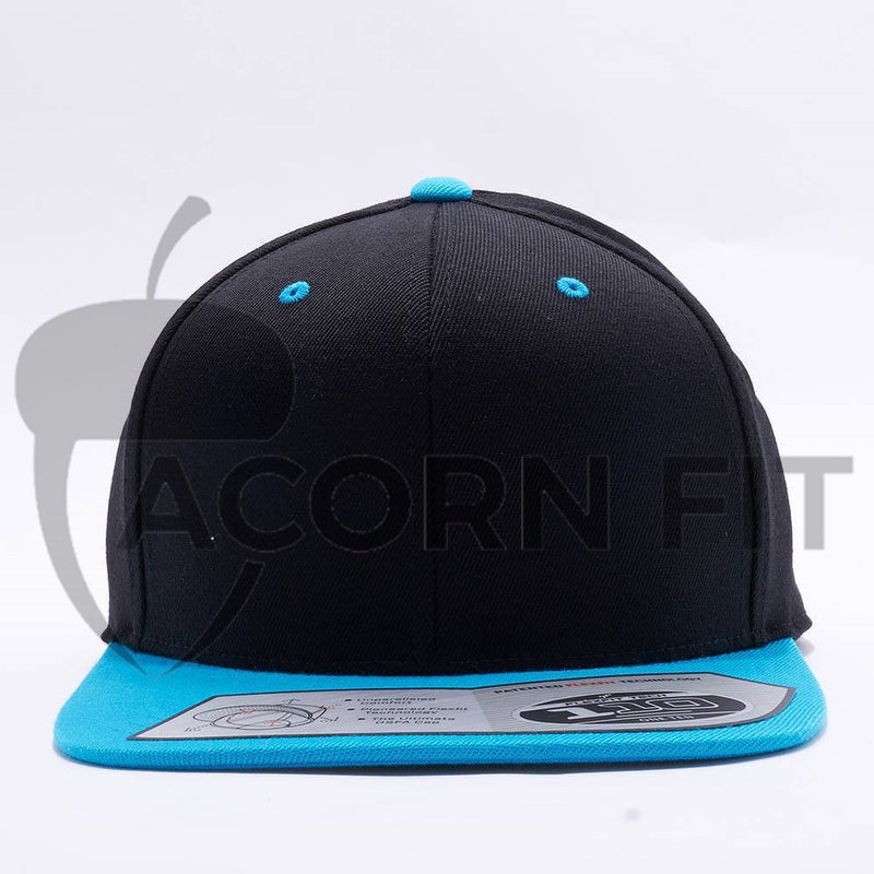 Blank Black Teal Two Tone Snapback Hats Caps