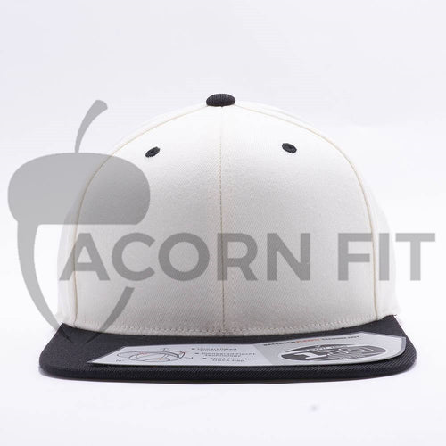 Blank Natural Black Two Tone Snapback Hats Caps