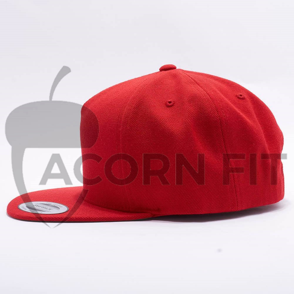 15e0c6a6ff3 ... usa wholesale yupoong 5089m classic 5 panel snapback red acorn fit  d6542 cbe44