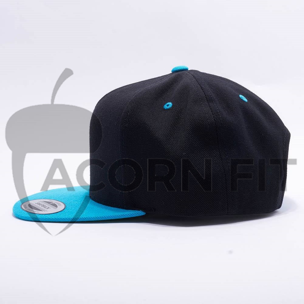 Wholesale Yupoong 5089MT Classic 5 Panel Snapback BlackTeal – Acorn Fit  free shipping b3326 a0939  Wholesale Flexfit 6477 Wool Blend Hat Heather ... ae8e66582575