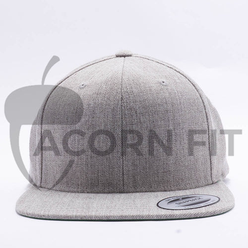 Yupoong Classic Blank Heather Grey Snapback