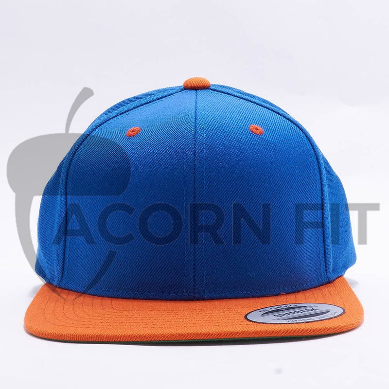 Yupoong Classic Blank Royal Orange Snapback