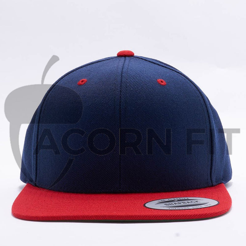 Yupoong Classic Blank Navy Red Snapback