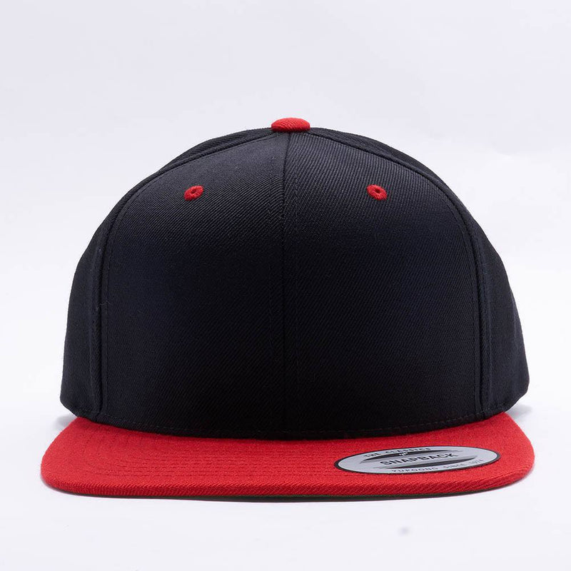 Yupoong Classic Blank Black Red Snapback