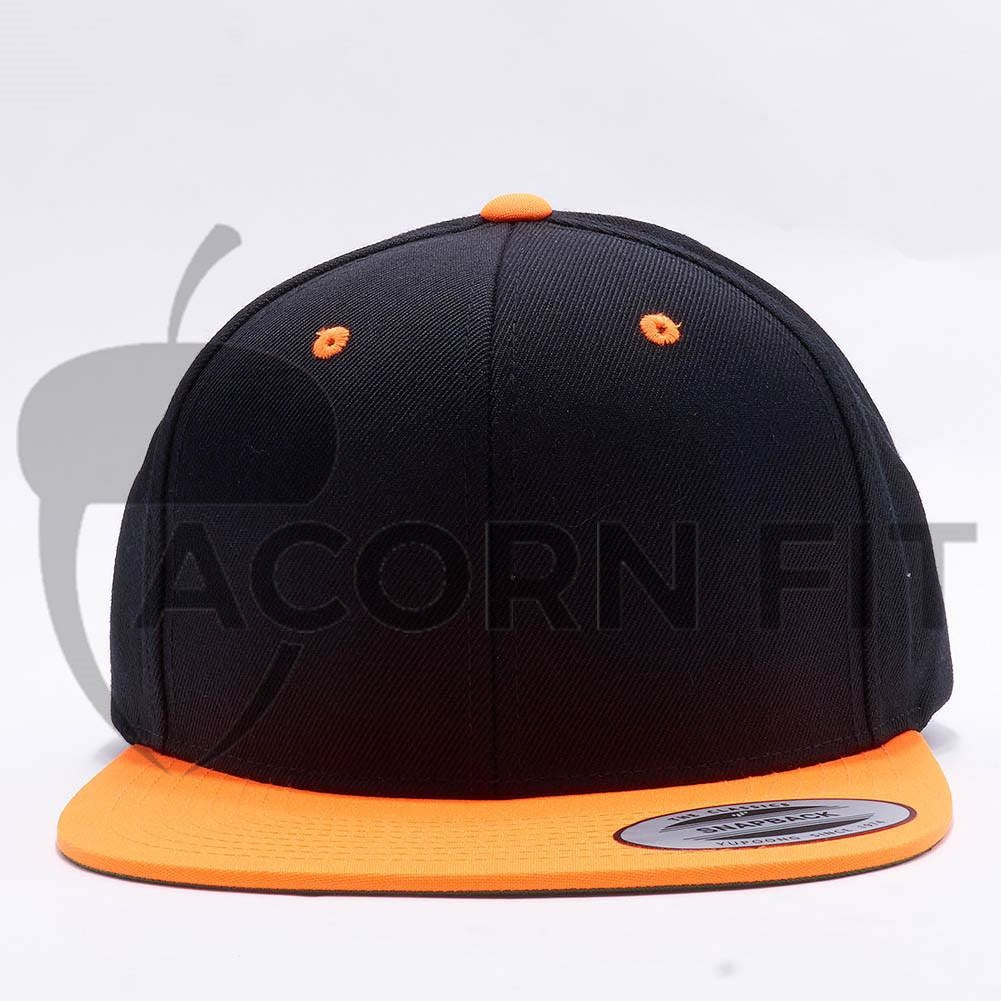 7a671f9507d Wholesale Yupoong 6089MT Classic Snapback  Black Neon Orange ...