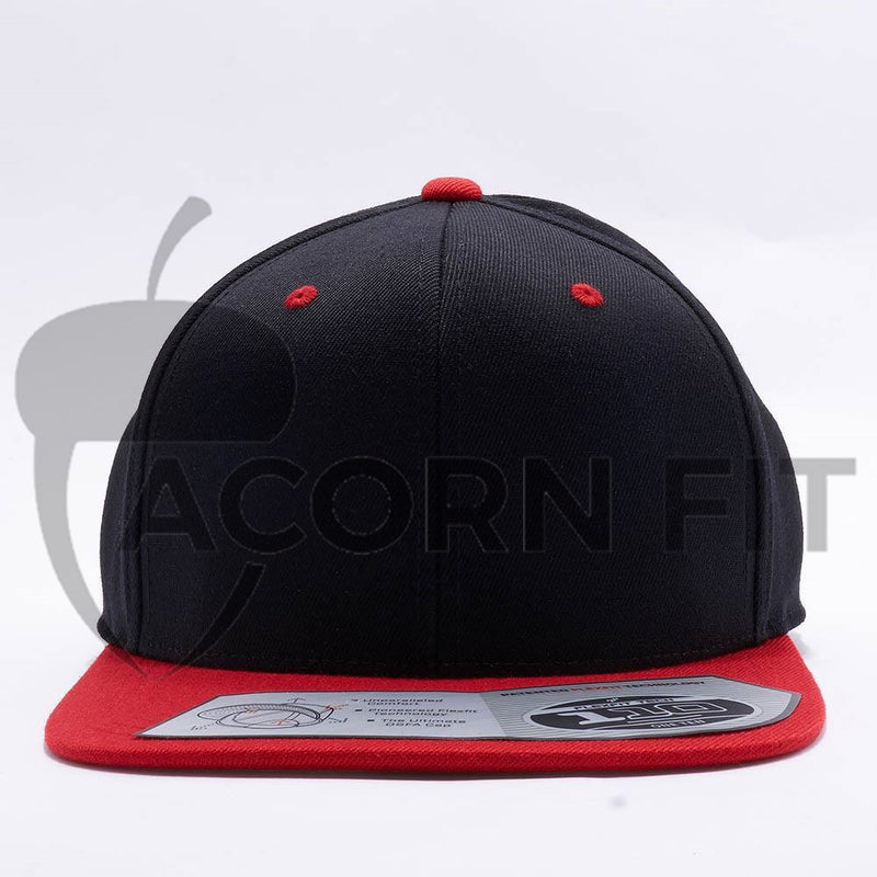 Blank Black Red Two Tone Snapback Hats Caps