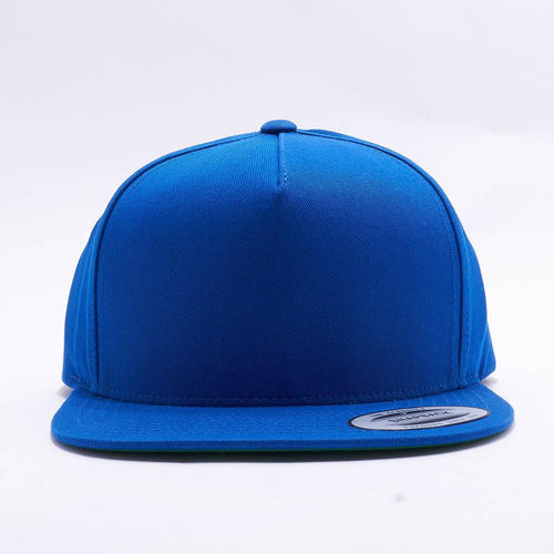 Yupoong Blank Royal Blue 5 Panel Snapback