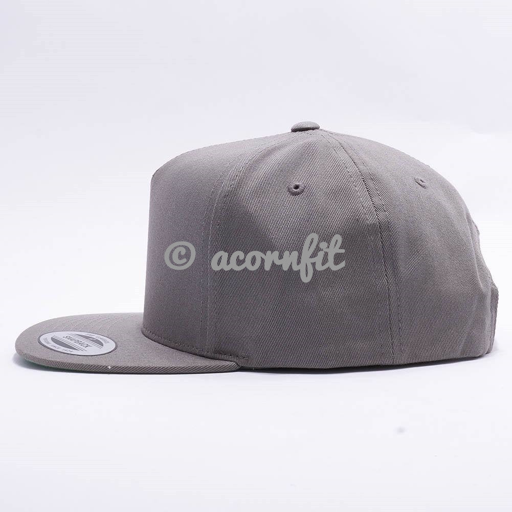 Wholesale Yupoong 6007 5 Panel Cotton Twill Snapback  Grey  – Acorn Fit f908fcedef6