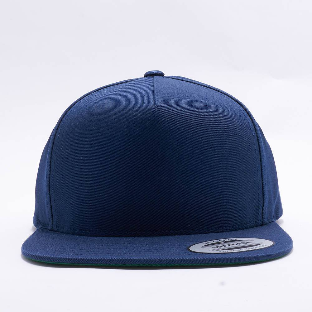 4c26985a170 Wholesale Yupoong 6007 5 Panel Cotton Twill Snapback  Navy  – Acorn Fit