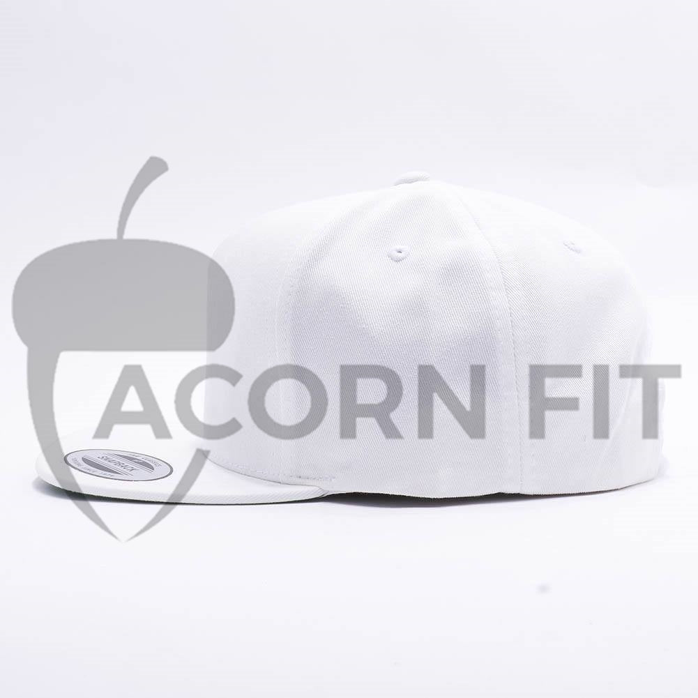 Wholesale Yupoong 6007 5 Panel Cotton Twill Snapback  White  – Acorn Fit 00c37e5f44ef