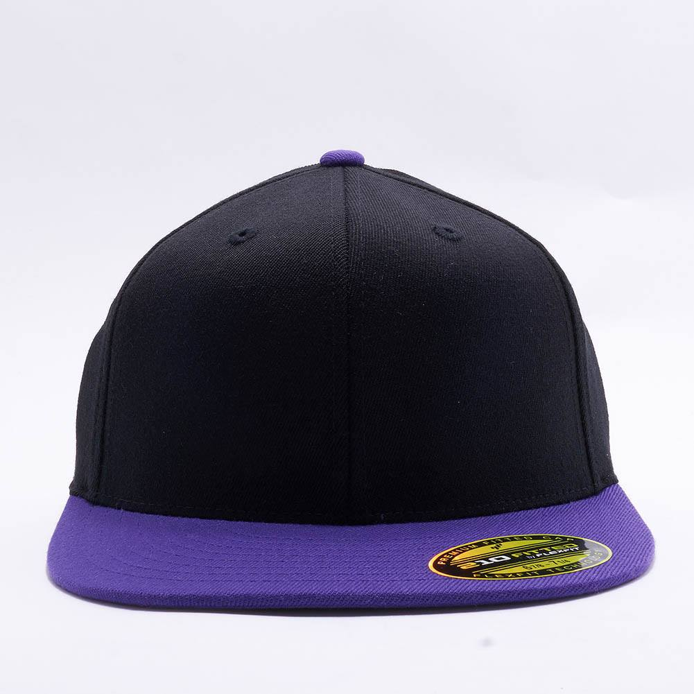37c53b5a0f0cb Wholesale Flexfit 6210T Premium 210 Fitted Hat  Black Purple ...