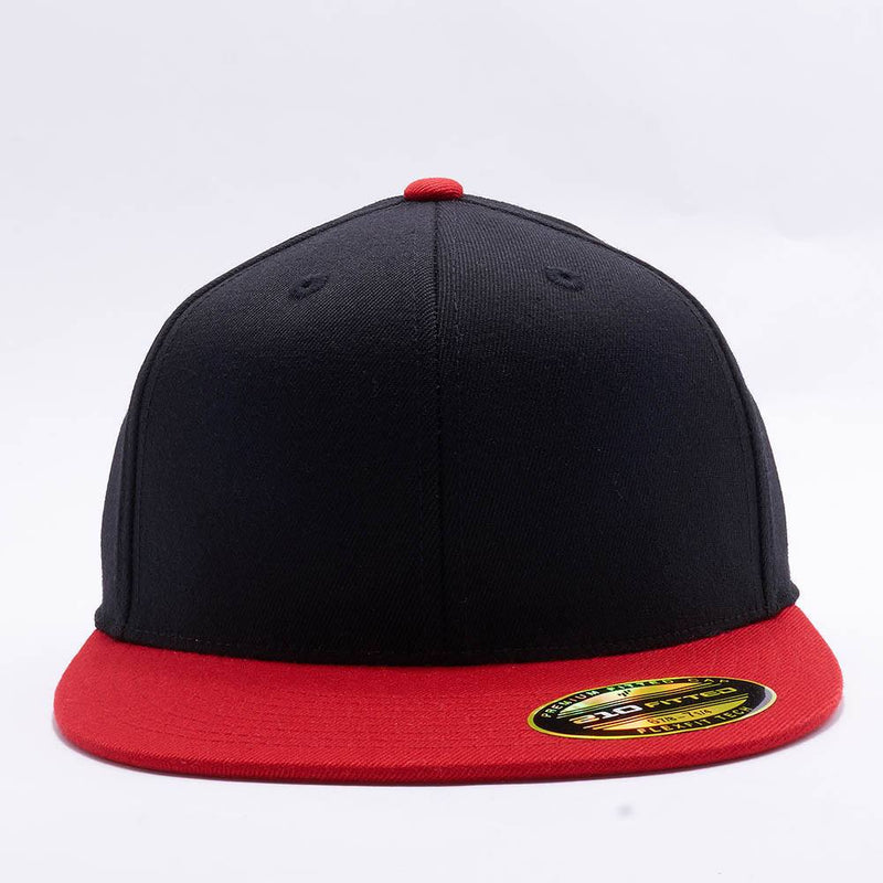 Black Red 210 Blank Fitted Hats