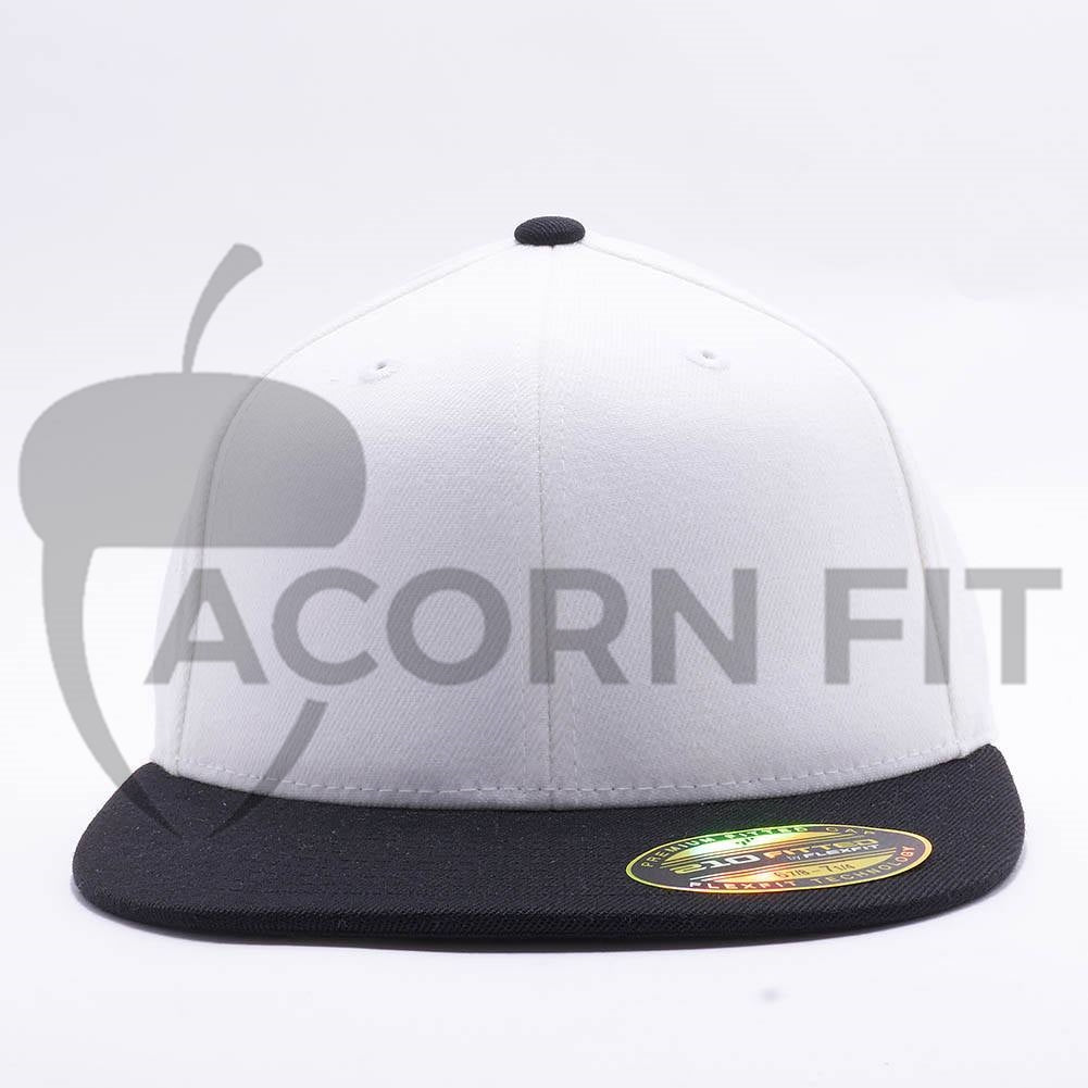 072c747b22e56 Wholesale Flexfit 6210T Premium 210 Fitted Hat  White Black  – Acorn Fit