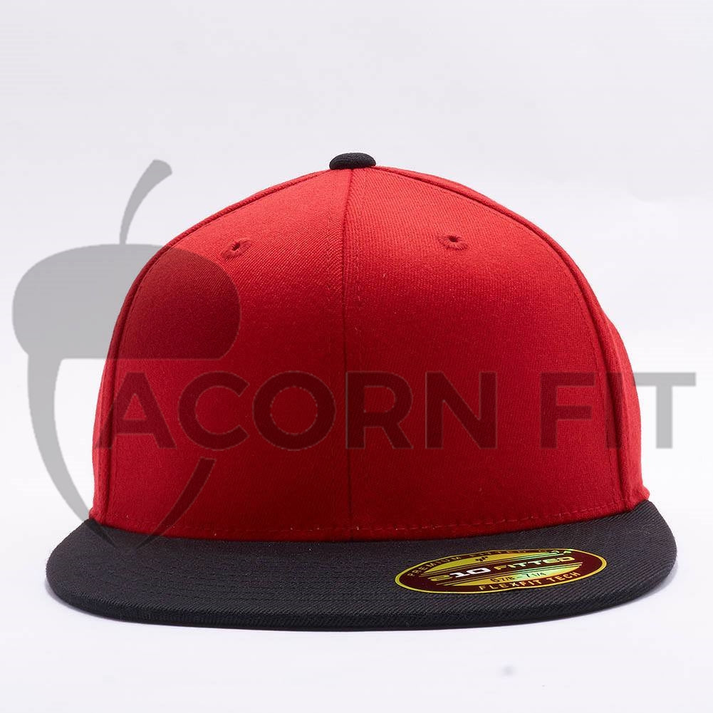 76ab48f3aecf2 Wholesale Flexfit 6210T Premium 210 Fitted Hat  Red Black  – Acorn Fit