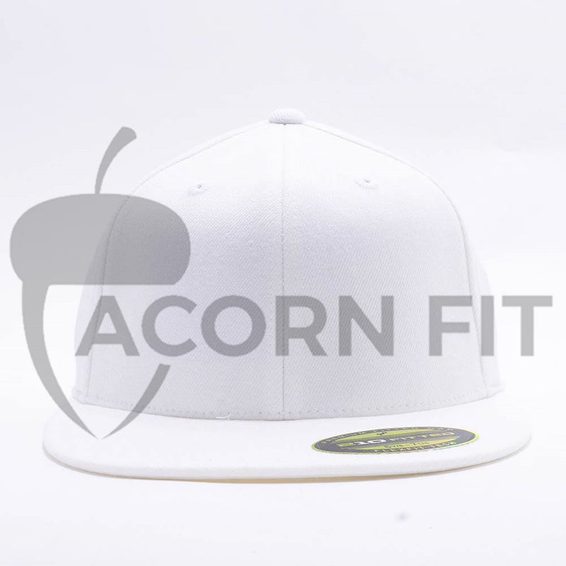 White 210 Blank Fitted Hats