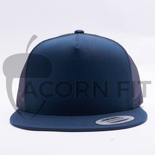Yupoong Navy 5 Panel Trucker