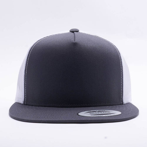 Yupoong Charcoal White 5 Panel Trucker