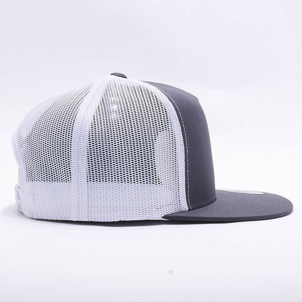 ab67d735d05 Wholesale Yupoong 6006T Classic Trucker  Charcoal White  – Acorn Fit