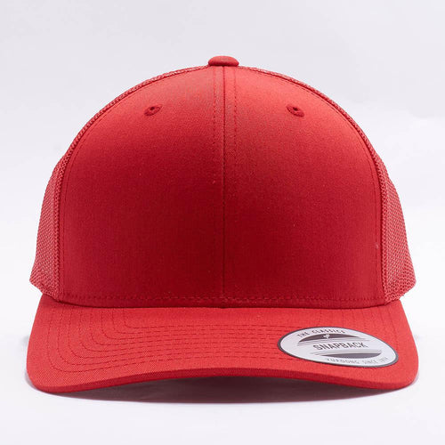 Red Blank Trucker Hat Cap