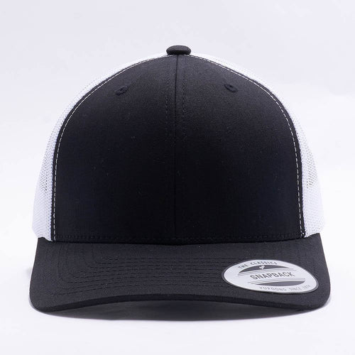 Black White Blank Trucker Hat Cap