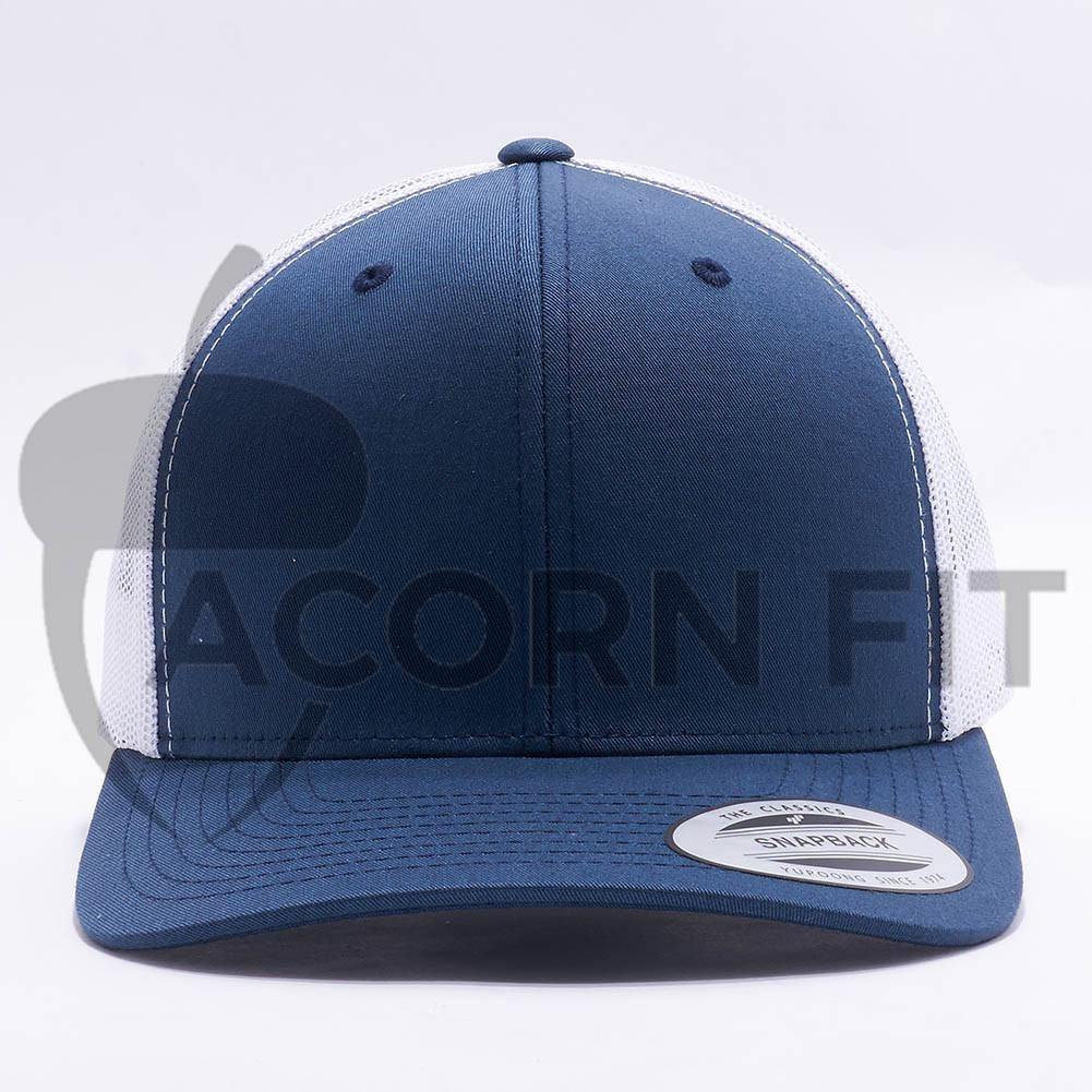 f12f51379fc Wholesale Yupoong 6606T Retro Trucker  Navy White  – Acorn Fit