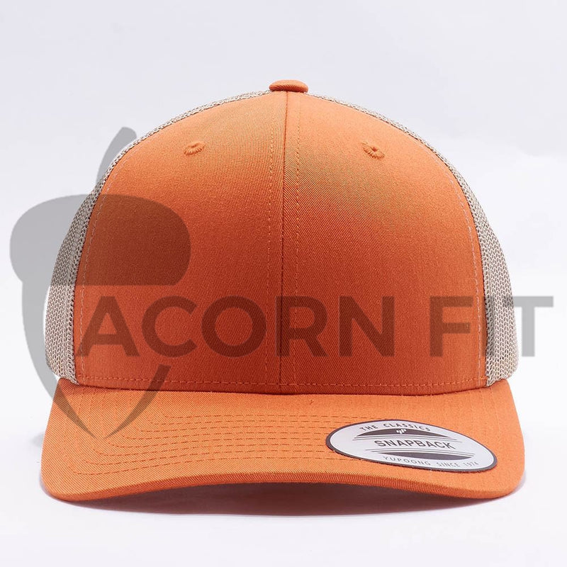 Rustic Orange Blank Trucker Hat Cap