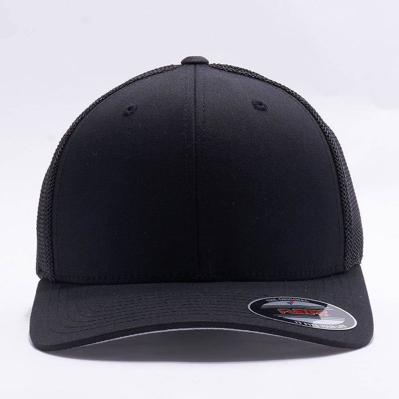 Black Flexfit Trucker Mesh Hat