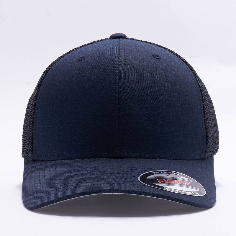 Navy Flexfit Trucker Mesh Hat