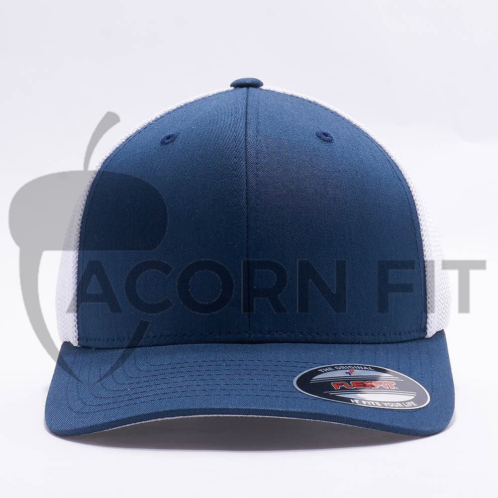 Wholesale Flexfit 6511T Trucker Mesh  Navy White  – Acorn Fit a4824f0c8032