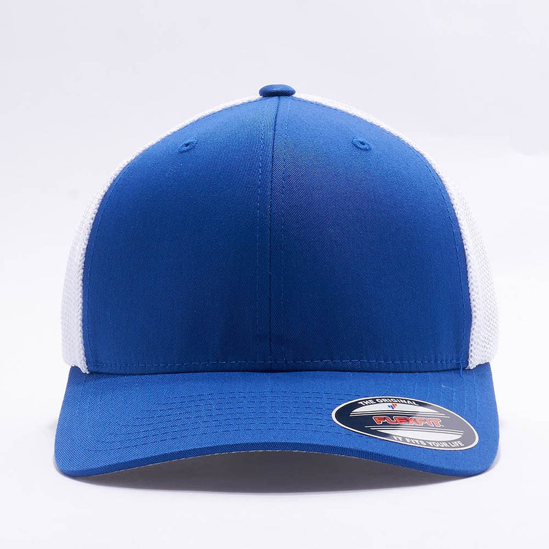 Royal White Flexfit Trucker Mesh Hat