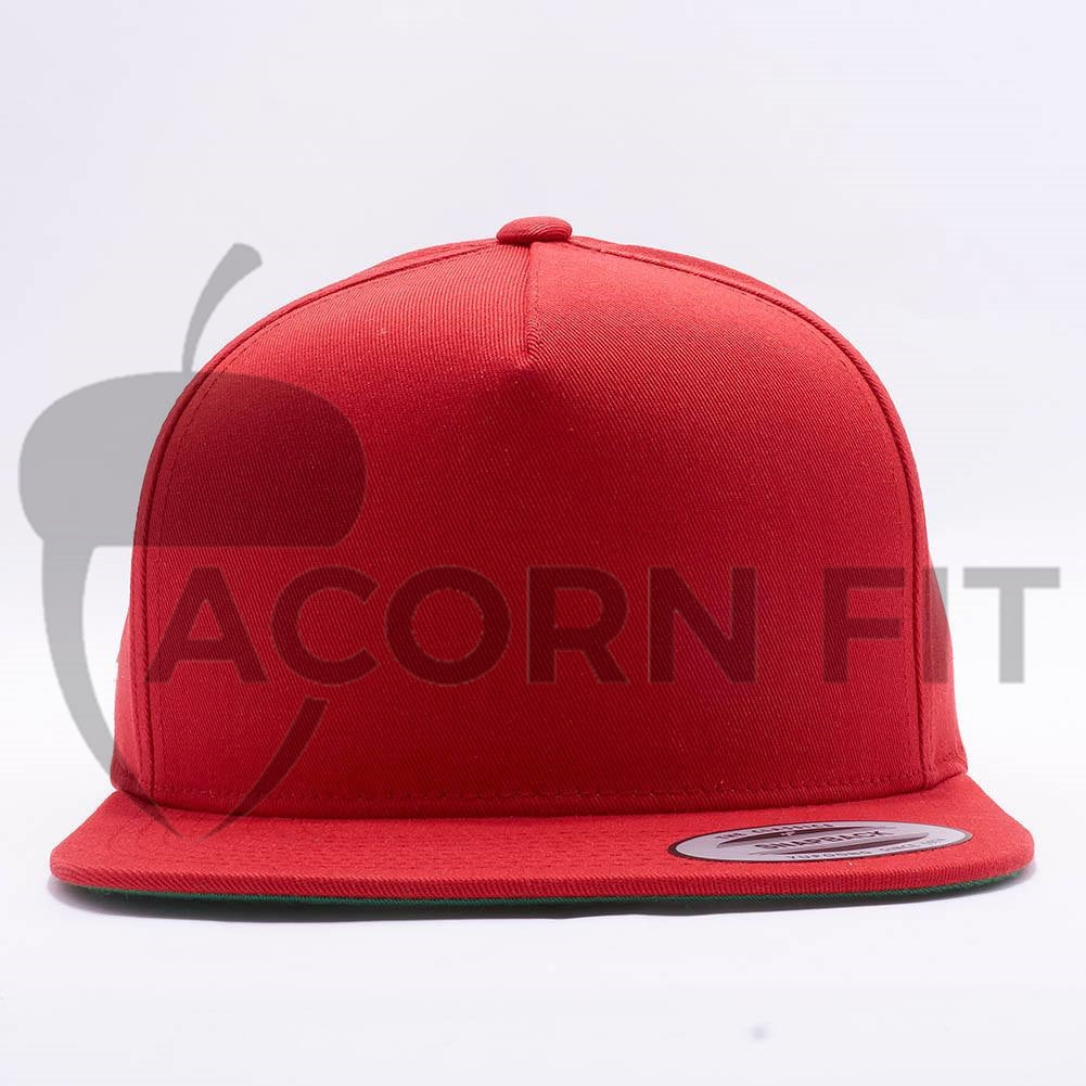 22b22620950 Wholesale Yupoong 6007 5 Panel Cotton Twill Snapback  Red  – Acorn Fit