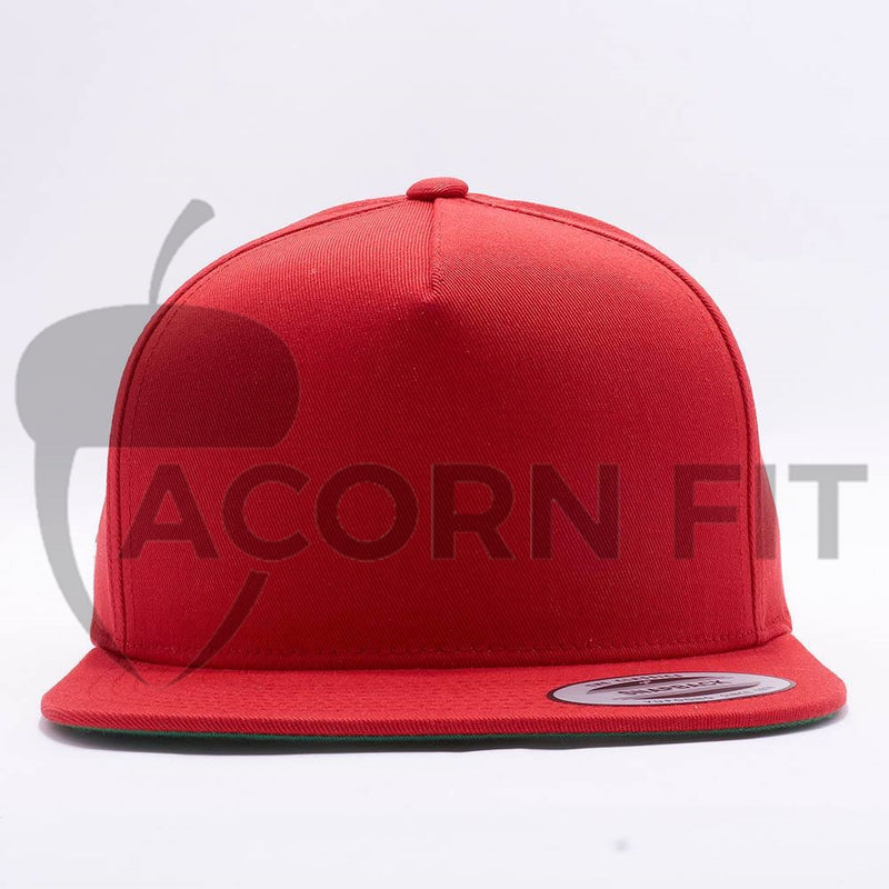 Yupoong Blank Red 5 Panel Snapback