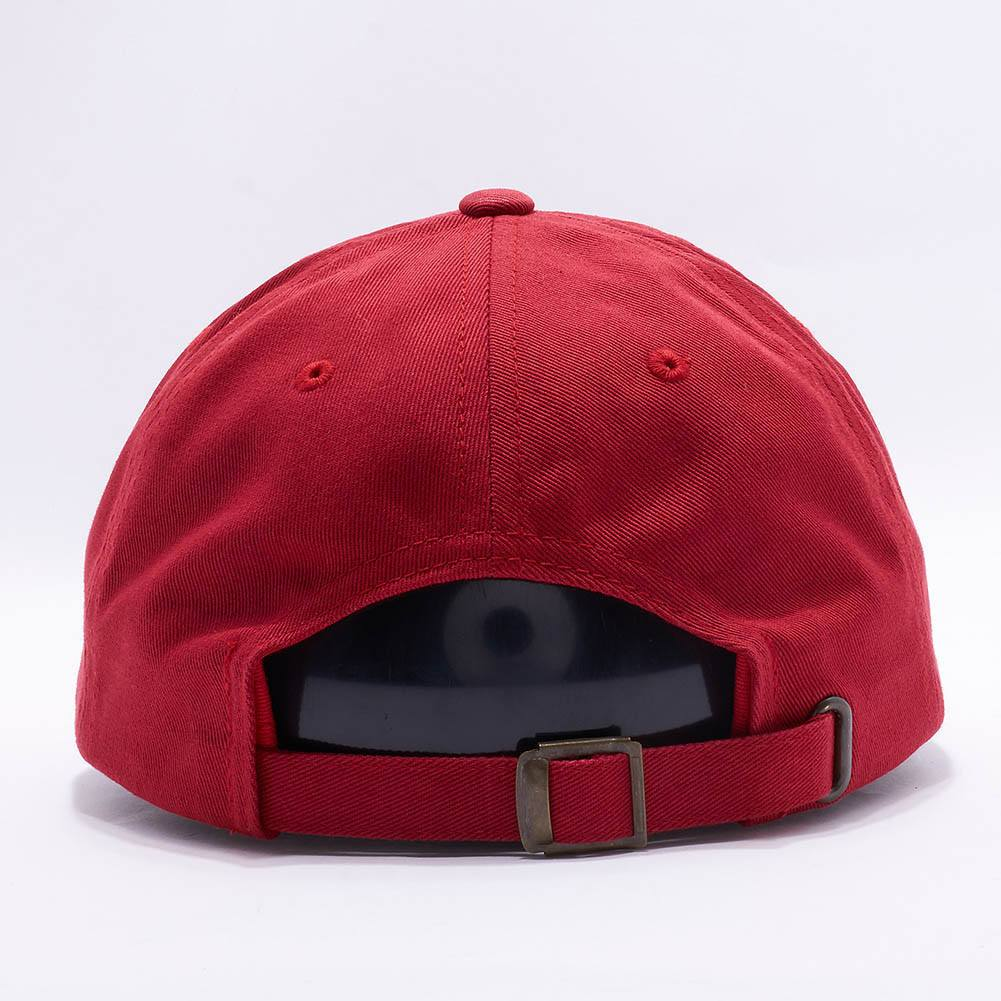 Wholesale Yupoong 6245CM Cotton Twill Dad Hat  Cranberry  – Acorn Fit 3526fdcc5b86