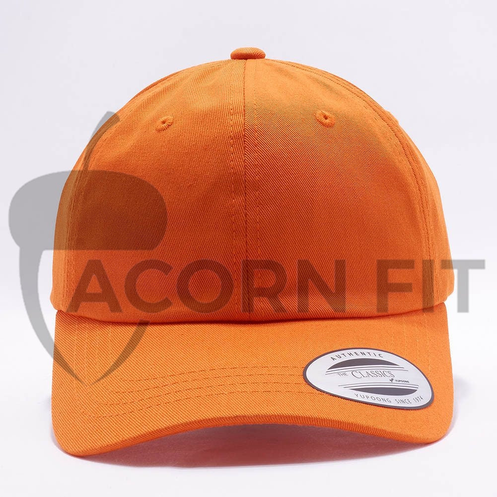 8dcf0f15a37 Wholesale Yupoong 6245CM Cotton Twill Dad Hat  Orange  – Acorn Fit