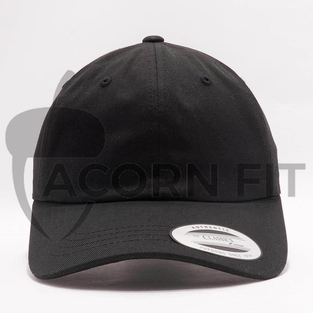 dc4fb7434865c Wholesale Yupoong 6245CM Cotton Twill Dad Hat  Black  – Acorn Fit