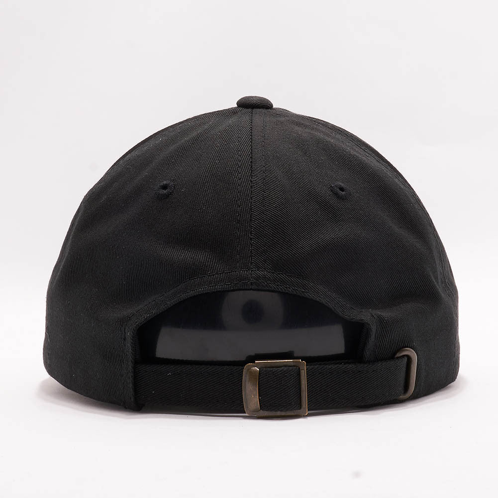 ... Blank Unstructured Dad Hats Wholesale - Yupoong Classic 6245PT Black 4deb1da67dd