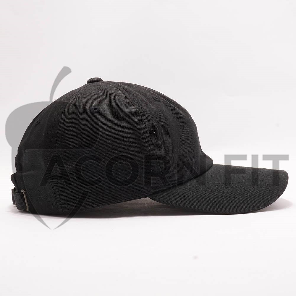 Wholesale Yupoong 6245CM Cotton Twill Dad Hat  Black  – Acorn Fit 952ae05d9ad8