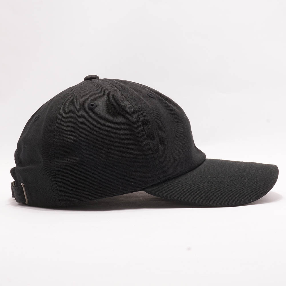... Blank Unstructured Dad Hats Wholesale - Yupoong Classic 6245PT Black ... 9499e08b520a