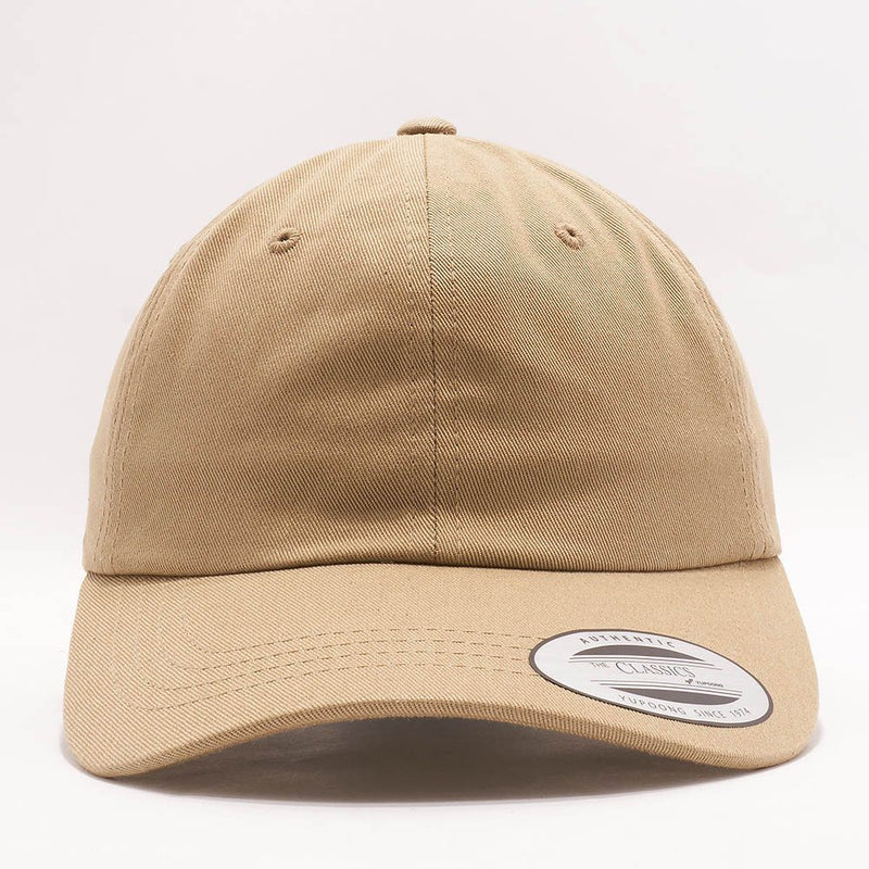 dad hats wholesale - yupoong 6245cm khaki