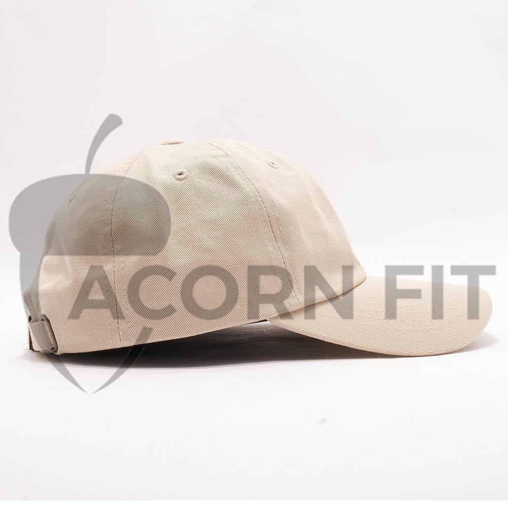 Wholesale Yupoong 6245CM Cotton Twill Dad Hat  Stone  – Acorn Fit 3490cf1af88a