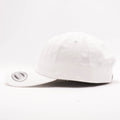 Blank Unstructured Dad Hats Wholesale - Yupoong Classic 6245PT White