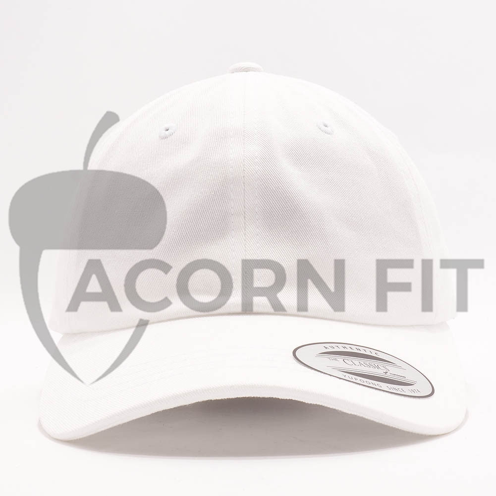 62822fa689ed3 Blank Unstructured Dad Hats Wholesale - Yupoong Classic 6245PT White