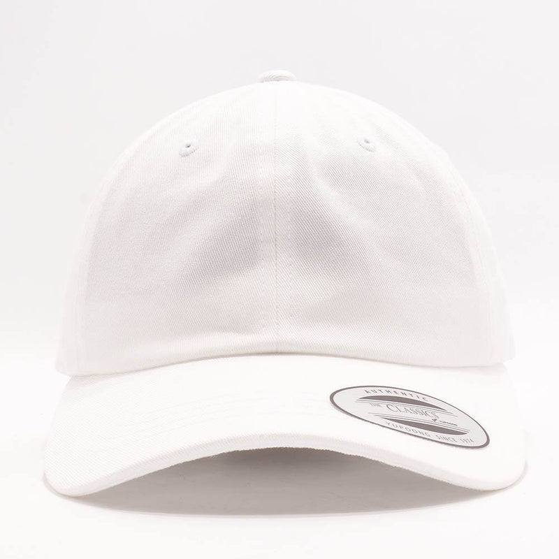 dad hats wholesale - yupoong 6245cm white