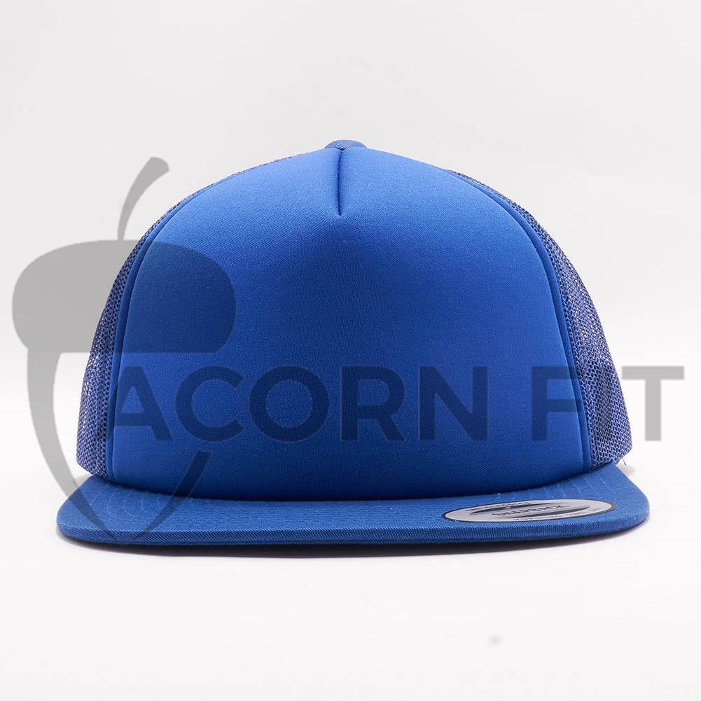 Wholesale Yupoong 6005FF Foam Trucker Hat  Royal  – Acorn Fit aad745f8e14