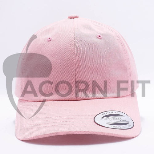 dad hats wholesale - yupoong 6245cm pink