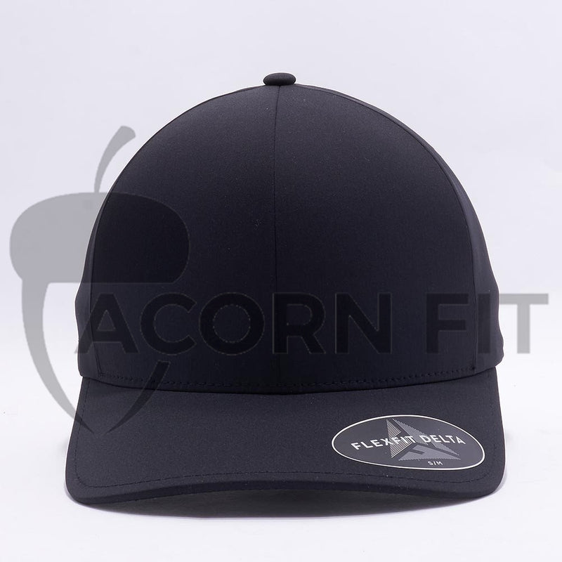 Black Flexfit Delta Hats Caps