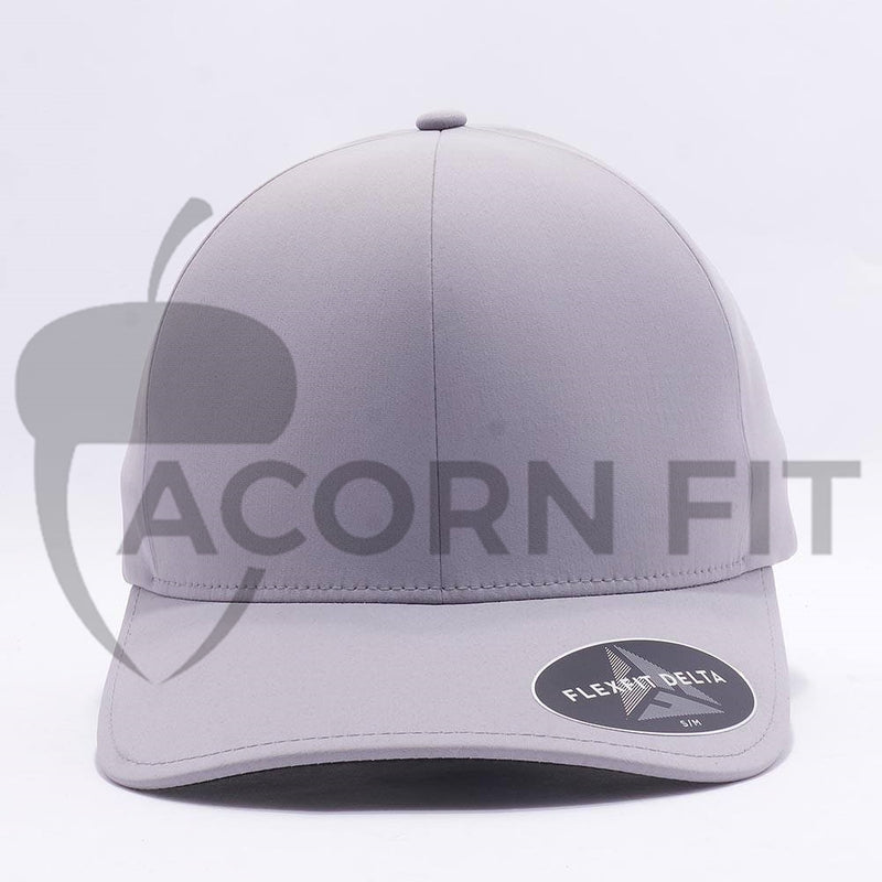 Silver Flexfit Delta Hats Caps