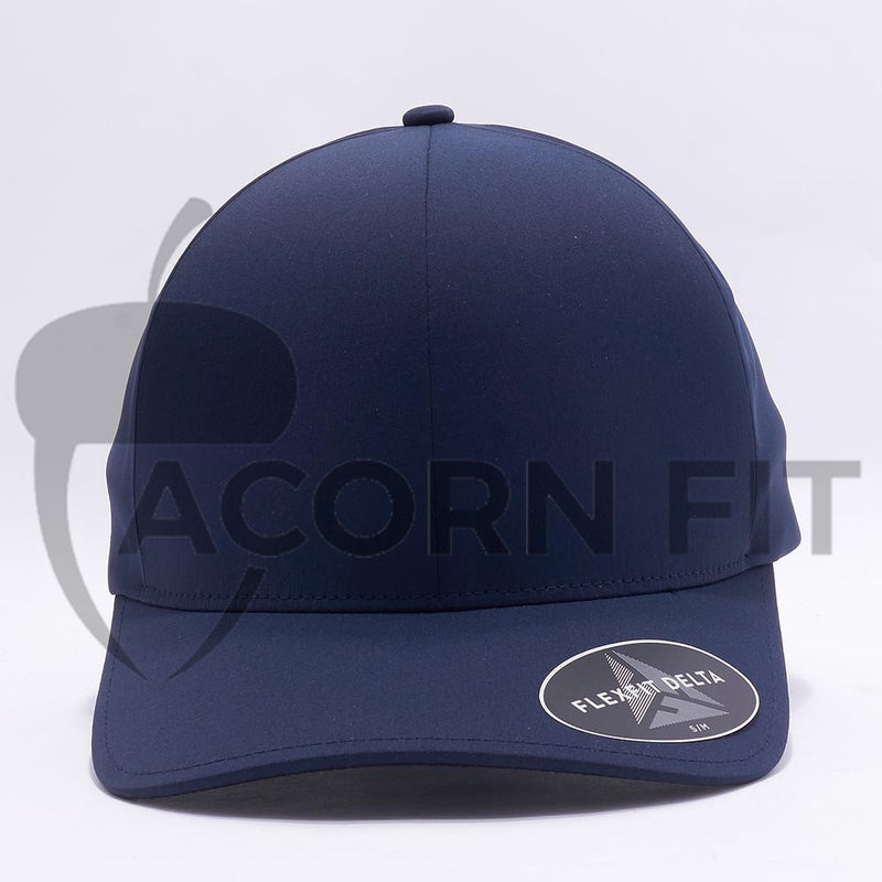 Navy Flexfit Delta Hats Caps
