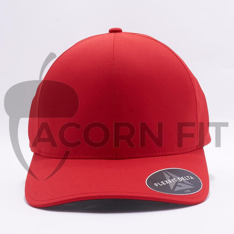 Red Flexfit Delta Hats Caps